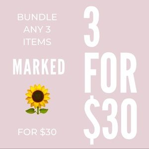 🌻3 ITEMS FOR $30🌻